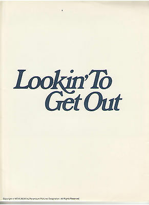 Lookin' To Get Out Press Kit Ann Margret Jon Voight Angelina Jolie Burt Young Lv
