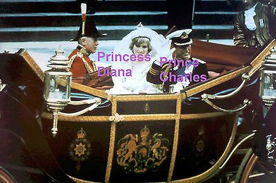 Princess Diana Di Prince Charles In Wedding Carriage July 29 1981 Photo