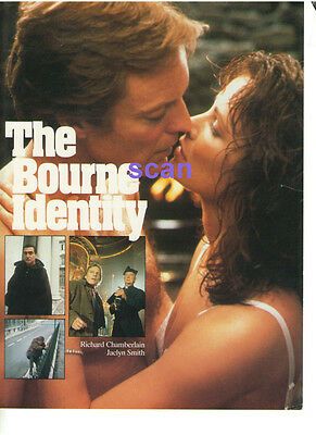 Richard Chamberlain Jaclyn Smith The Bourne Identity Color Ad Slick Canada Ctv