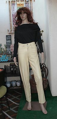 Vintage 70's Fiorucci Leather Pants Natural High Waisted
