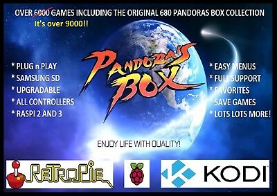 Pandoras Box 5s Now Available for Raspberry Pi - Over 9500 Games - Plug n Play.