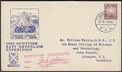 Scotland 1963 East Greenland Rare Expedition Signed Cover By Deputy Leader
