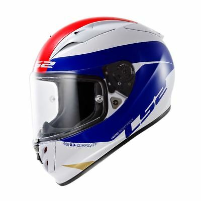 LS2 FF323 ARROW R Comet Full Face Motorcycle Helmet White/Blue/Red - Small