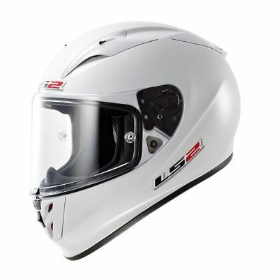 LS2 FF323 Arrow R Solid Full Face Motorcycle Crash Helmet White Large