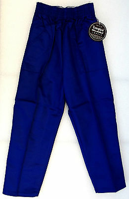 Vintage childrens clothes 1950s trousers UNUSED Everglaze stain resistant blue