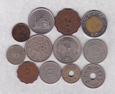 12 Coins From Egypt In Various Grades