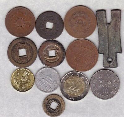 12 Coins From China In A Used Condition
