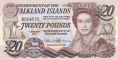 P19 Falkland Islands 2011 £20 Note In Crisp Mint Condition