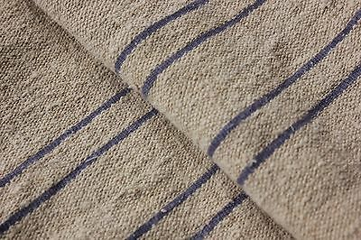 Antique GRAIN SACK vintage GRAINSACK old linen blue stripe CORNFLOWER BLUE
