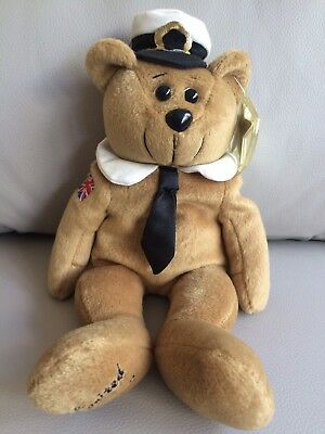 Collecticritter Beanie 'Titanic Rescue Bear' Limited Adult Collector Displayed