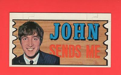 The Beatles Plaks Topps # 23 JOHN SENDS ME