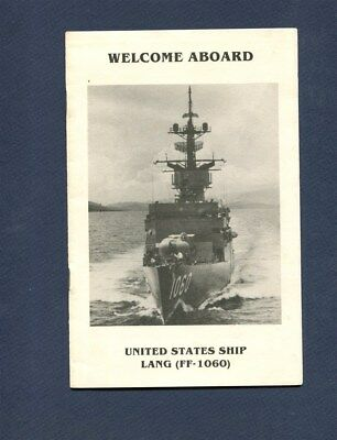 FF 1060 USS LANG WELCOME ABOARD PAMPHLET US Navy Frigate Ship Squadron Booklet