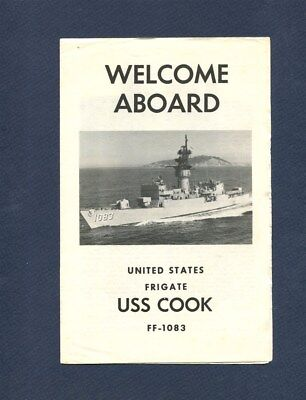 FF 1083 USS COOK WELCOME ABOARD Booklet US Navy Frigate Ship Squadron Pamphlet