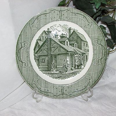 Royal China The Old Curiosity Shop Vintage Dinner Plate Green Transfer #1
