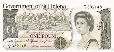 P9a SAINT HELENA 1981 ONE POUND BANKNOTE IN MINT CONDITION