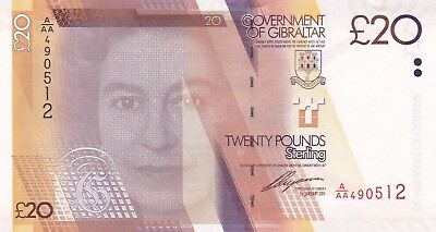 P37 Gibraltar 2011 Twenty Pounds Banknote In Mint Condition