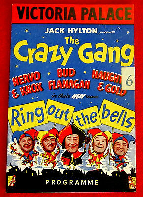 Victoria Palace London England Ring Out The Bells Playbill Bud Flanagan 1950s c