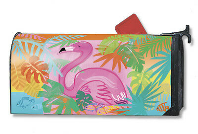 Magnet Works Fancy Flamingo Original Magnetic Mailbox Wrap Cover