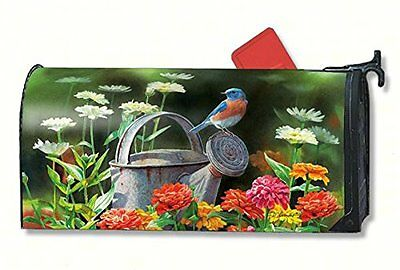Magnet Works Garden Blue Bird Magnetic Mailbox Wrap Cover