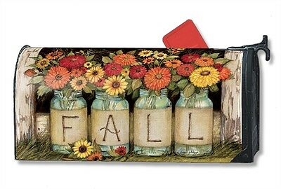 Magnet Works Fall Mason Jars Original Magnetic Mailbox Wrap Cover