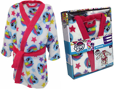 My Little Pony Girls Soft Rainbow Dash Dressing Gown Childrens Bathrobe Gift Box