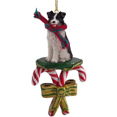 Border Collie Dog Candy Cane Christmas Tree ORNAMENT