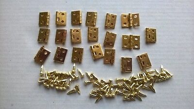 Hinges x 20 small DOLLS HOUSE MINIATURES (F6061)