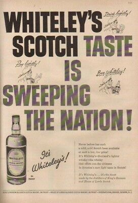 1953 Whiteley's Scotch Whisky/Whiskey 1950's Print Ad