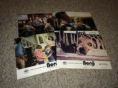 BENJI 1974 Movie Lobby Card Posters Lovable Mixed Breed Mutt Scamp Dog Adventure