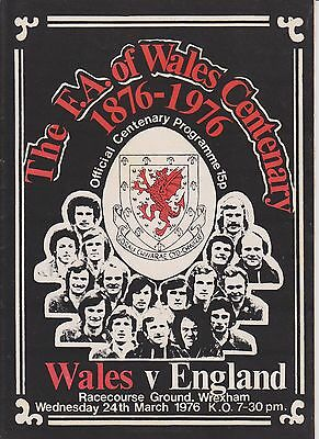 WALES v ENGLAND CENTENARY MATCH 1976 AT WREXHAM
