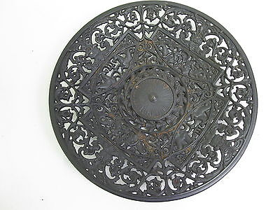 Old Metal Plate Breakthrough Bowl relief marked