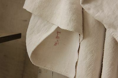 Antique French linen sheet old linen 84X99 18th century HEAVY 5 pounds 9 SOFT