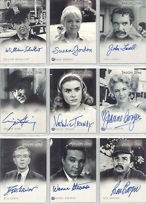 Twilight Zone  :  Autograph Cards  Various Series              ...select /choose