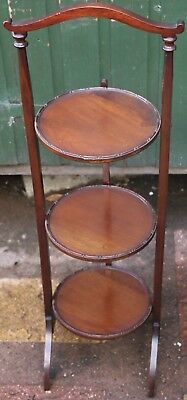 Fab Looking Solid Wood 3 Tier Folding Cake Stand That Needs A New Hinge On Tray