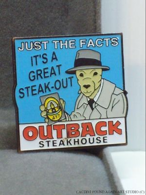 Outback Steakhouse Restaurant Pin Kangaroo Joe Friday Just The Facts Detective