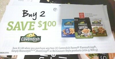Lot Of Cavendish Farms Product Coupons - Tear Pad