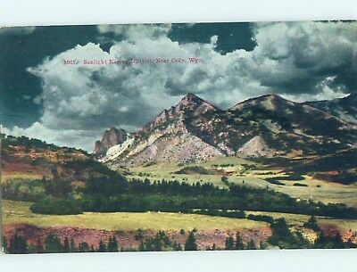 Divided-Back RUSTIC SCENE Cody Wyoming WY hk4061