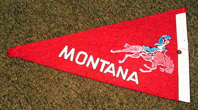Montana Travel Souvenir Pennant with bronco rider c