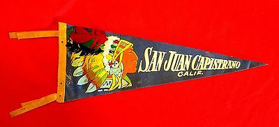 San Juan Capistrano California Pennant With Real Feathers in Headress msc6