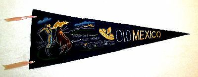 Caliente Race Track Old Mexico Tijuana Souvenir Travel Pennant msc6