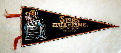 Stars Hall of Fame Wax Museum Souvenir Travel Pennant Orlando Florida msc6