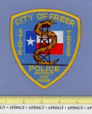 FREER TEXAS TX Sheriff Police Patch RATTLESNAKE OIL WELL LONE STAR STATE