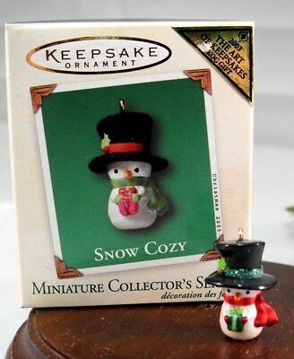 Hallmark Miniature Ornament 2003 Snow Cozy #2 in Snow Cozy Colorway Repaint