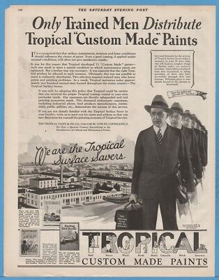 1929 Tropical Paint & Oil Co Cleveland OH Surface Savers Trained Men Factory Ad