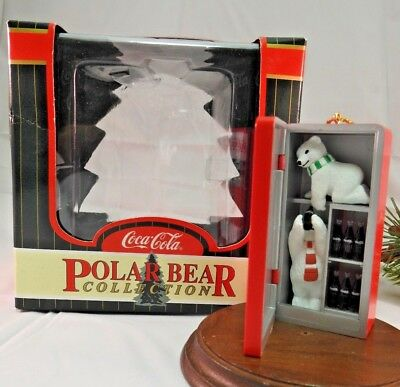 Rare Coca Cola Ornament 1997 Pause & Refresh  Polar Bear Collection  NIB