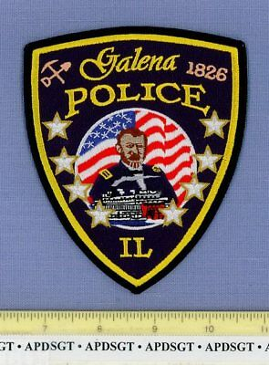 GALENA ILLINOIS IL Sheriff Police Patch STEAMBOAT GENERAL SHERMAN CIVIL WAR