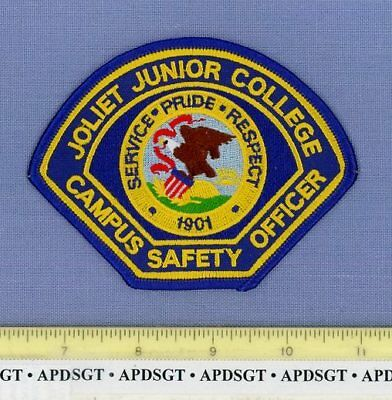 JOLIET JUNIOR COLLEGE CAMPUS SAFETY OFFICER ILLINOIS School Campus Police Patch