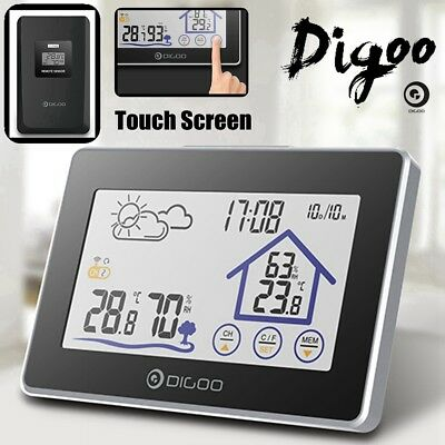 Digoo Wireless Touch In&Outdoor Thermometer Hygrometer Weather Station + Sensor