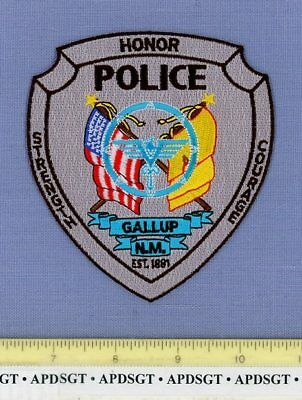 GALLUP NEW MEXICO NM Sheriff Police Patch INDIAN THUNDERBIRD ZIA FLAG