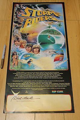 STORM RIDERS - Dick Hoole AUTOGRAPHED Gerry Lopez 12x26in. 1982 Surfing Poster